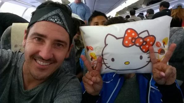 Jonathan and Hello Kitty