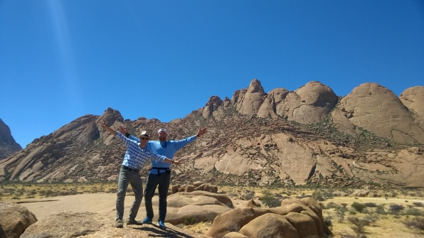 Phil and Tyler in Namibia