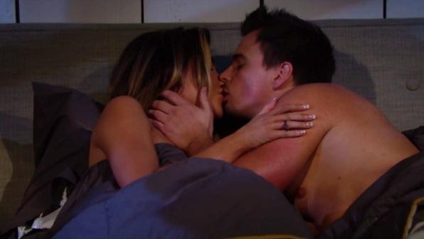 Steffy and Wyatt celebrate their engagement.