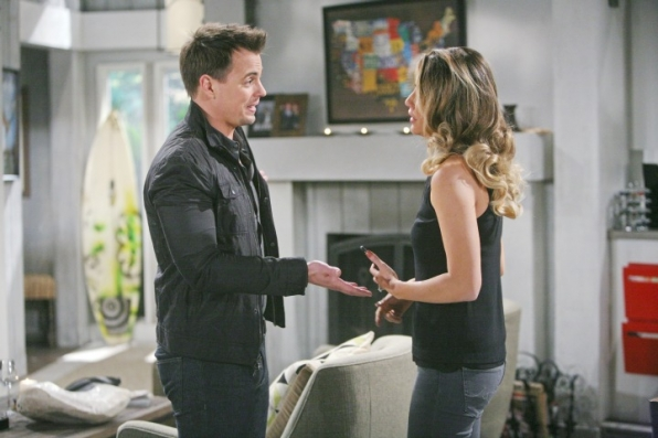 Wyatt rushes to Steffy's side.