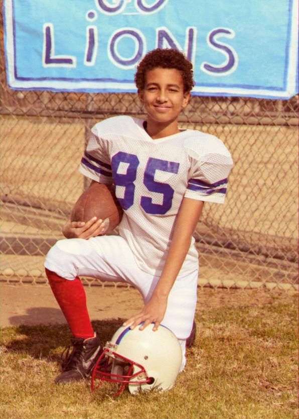 A look at young Derek Morgan.