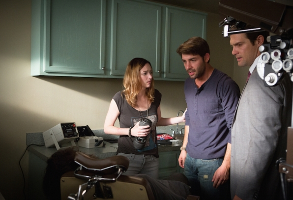 Kristen Connolly as Kristen Connolly, James Wolk as Jackson Oz, and Geoff Stults Agent Ben Shaffer.
