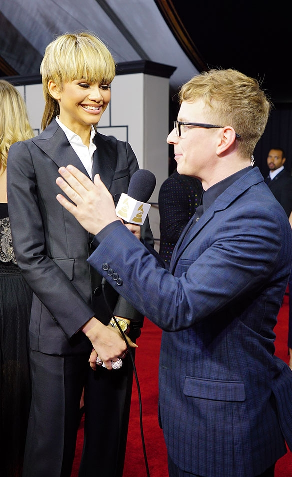 GRAMMYs 2016: Zendaya with Tyler Oakley