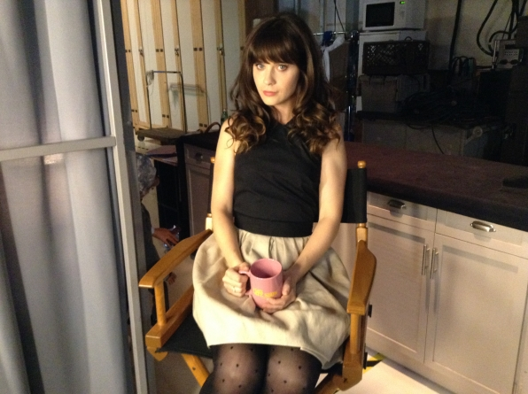 Zooey Deschanel - Behind the Scenes at The Late Late Show