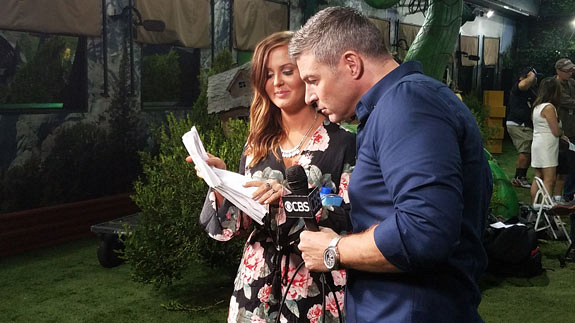 Big Brother Backyard Party :  backyard as she FaceTimed Michigan news station WMEN TV5 about her big