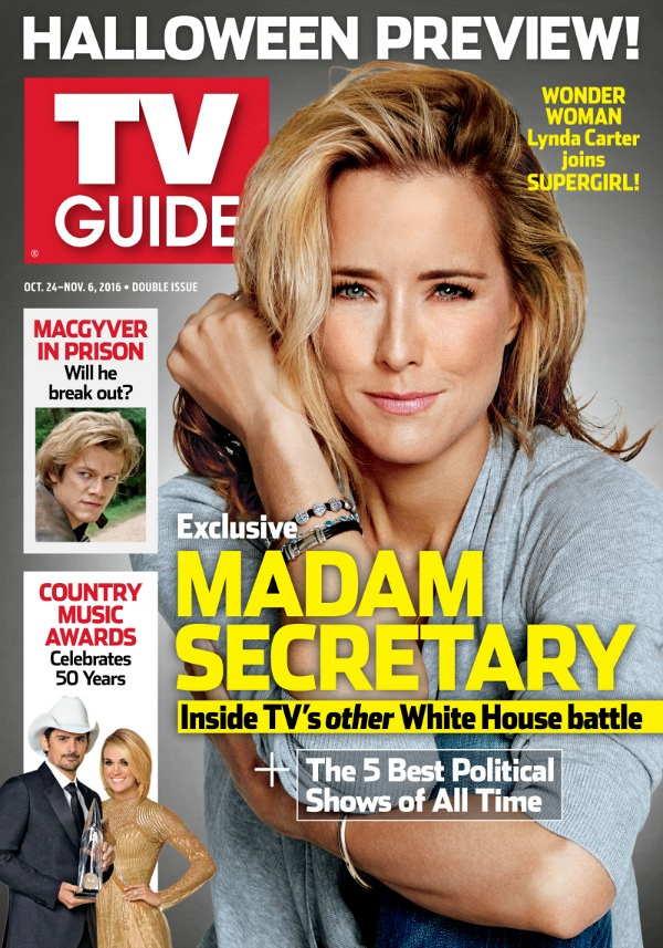 get an exclusive first look at madam secretary 39 s tv guide magazine cover. Black Bedroom Furniture Sets. Home Design Ideas