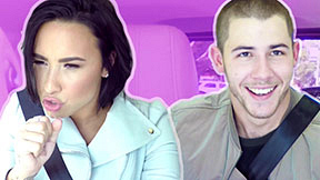 Carpool Karaoke With Demi & Nick
