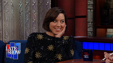 Aubrey Plaza Talks Nuns, Her Deepest Secrets, And More On The Late Show