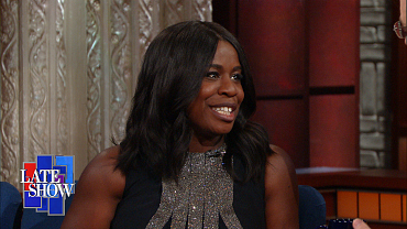 Uzo Aduba Tells Stephen Colbert She Was Scared Straight As A Kid