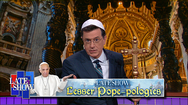 Stephen Colbert Apologizes On The Church's Behalf In 'Lesser Pope-Pologies'