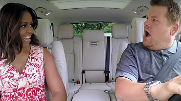 The First Lady Michelle Obama Surprisingly Jumped In Corden's Car