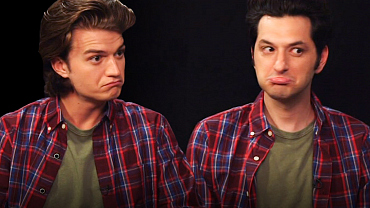 You Need These GIFs Of Ben Schwartz & Joe Keery Becoming Family