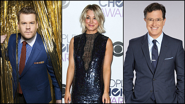 Kaley Cuoco, James Corden, Stephen Colbert & More To Present At The GRAMMYs
