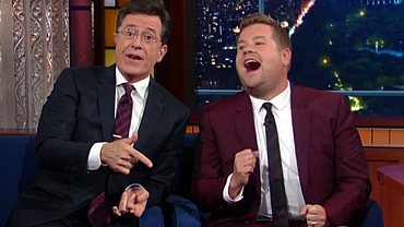 Tonight James Corden Visits Stephen Colbert Again On The Late Show