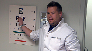 James Corden Worked As A LensCrafters EyeCare Consultant For A Day
