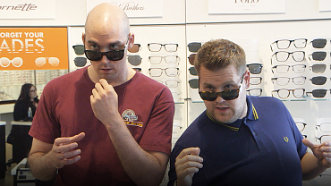 James Corden Has A Very Unique Way Of Choosing The Right Sunglasses