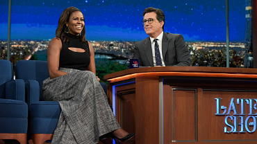 Michelle Obama Talks Beyoncé, Swag, And Education On The Late Show