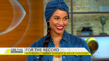 Alicia Keys Announces 2016 GRAMMY Nominees on CBS This Morning