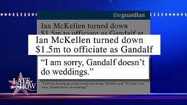 Sorry, Gandalf Doesn't Do Weddings