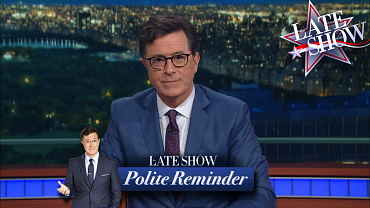 A Polite Reminder From The Late Show About Polls