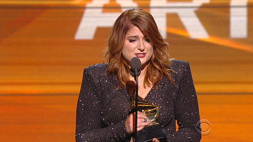Meghan Trainor Wins 2016 GRAMMY For Best New Artist