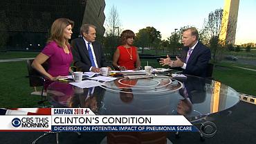 How will Clinton\'s pneumonia scare impact campaign?