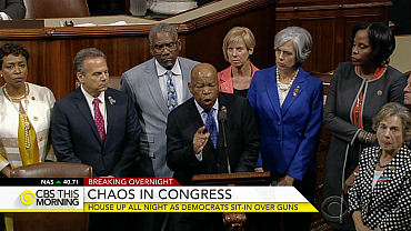 House up all night as Democrats sit-in over gun control