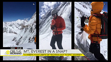 Mount Everest climbers Snapchat epic journey
