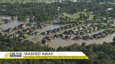 Louisiana struggles to cope with flood devastation