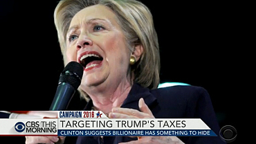Clinton suggests Trump has something to hide in tax returns