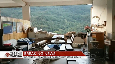 Dozens killed after earthquake strikes Italy