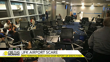 JFK Airport terminal evacuated after report of shots fired