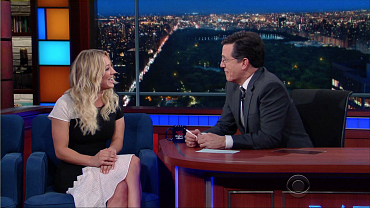 Kaley Cuoco Talks Babies, Science, And Horses On The Late Show