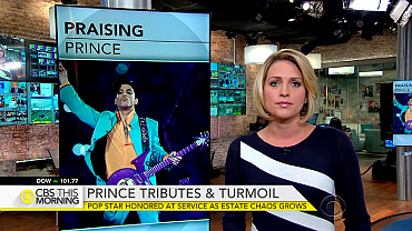 Prince honored at service as estate chaos grows