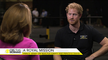 Prince Harry on Invictus Games 2016, Princess Diana