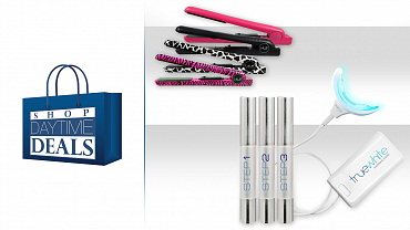 ISO Beauty Professional Flat Iron And TrueWhite Teeth Whitening Kit